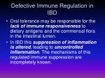 defective immune regulation in ibd2