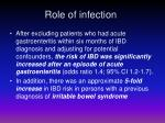 role of infection3