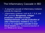 the inflammatory cascade in ibd