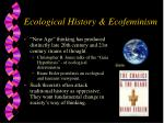 ecological history ecofeminism
