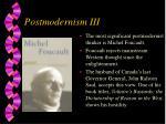 postmodernism iii