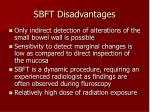 sbft disadvantages