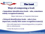 ways of composing a lead