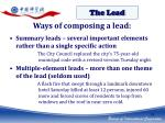ways of composing a lead1
