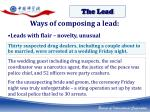 ways of composing a lead2