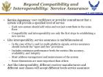 beyond compatibility and interoperability service assurance