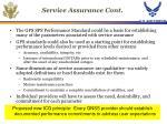 service assurance cont
