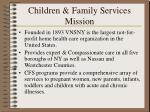 children family services mission