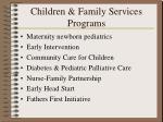 children family services programs