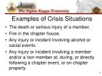 examples of crisis situations