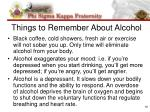 things to remember about alcohol
