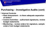 purchasing investigative audits cont