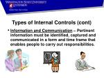 types of internal controls cont