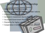 advantages of membership