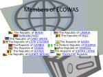 members of ecowas