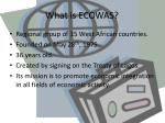 what is ecowas