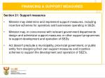 financing support measures1