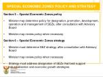 special economic zones policy and strategy