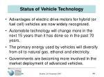 status of vehicle technology