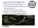 learjet sense avoid flight test