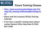 future training classes
