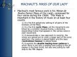 machaut s mass of our lady