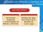 concepto de inflaci n y cambios en los precios