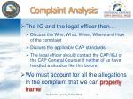 complaint analysis2