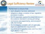 legal sufficiency review