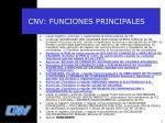 cnv funciones principales