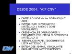 desde 2004 aif cnv