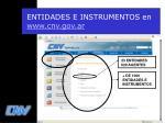 entidades e instrumentos en www cnv gov ar