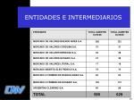 entidades e intermediarios