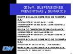 gibym suspensiones preventivas y sumarios