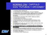 normas cnv capitulo xxiv futuros y opciones