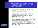 principales contratos negociados