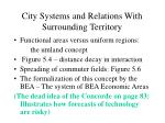 city systems and relations with surrounding territory