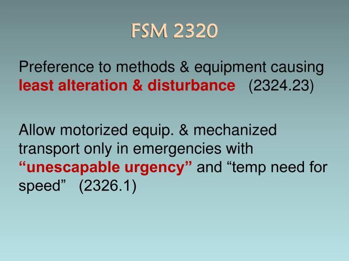 FSM 2320