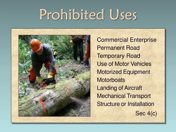 Prohibited Uses