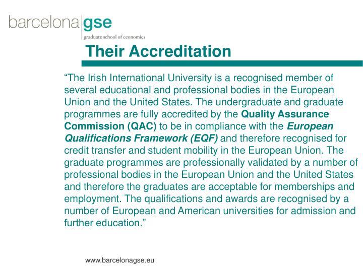 Their Accreditation