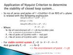 application of nyquist criterion to determine the stability of closed loop system4