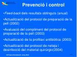 prevenci i control