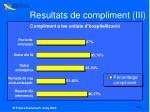 resultats de compliment iii