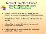 medical director s duties7