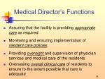 medical director s functions