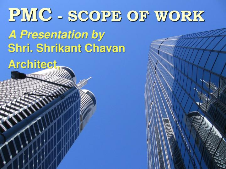 pmc scope of work n.