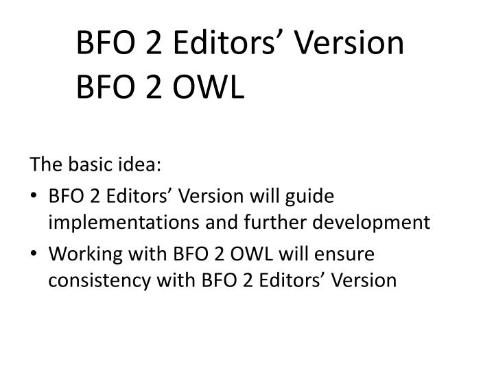 Bfo 2 editors version bfo 2 owl