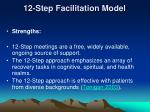 12 step facilitation model