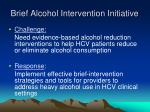 brief alcohol intervention initiative