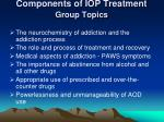 components of iop treatment group topics